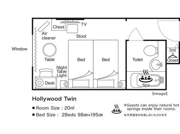 ハリウッドツイン 間取り図イメージ