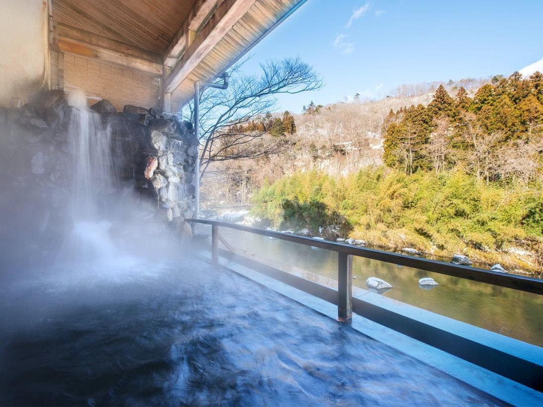 川沿い露天風呂(冬)