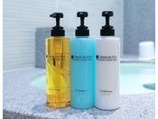 ホテルオリジナルアメニティ天然温泉スパ、一般フロア客室(4階~13階)にて使用しております。