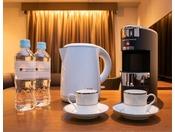 14階ラグジュアリーフロアにはエスプレッソマシンを完備。引き立てのコーヒーをお楽しみください。