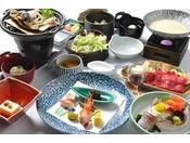 信州の旬菜を用いた会席風料理