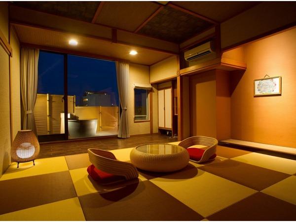 アジアンテイスト露天風呂付和室