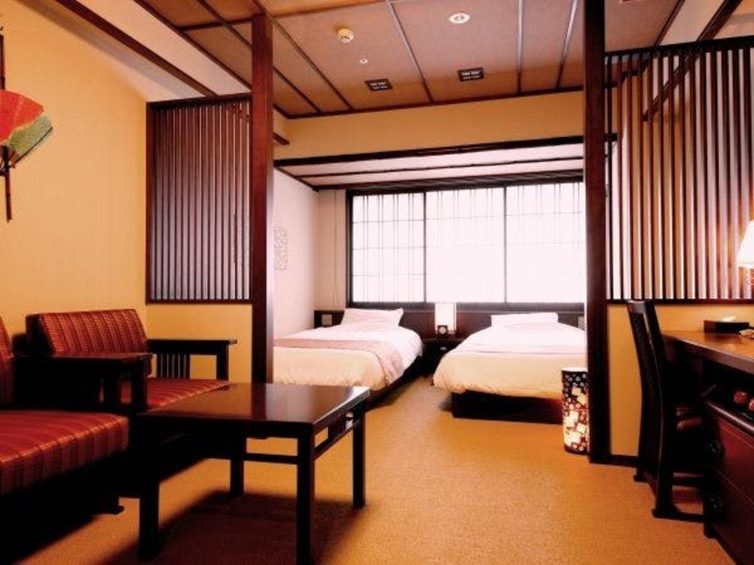 【客室】京町家ツイン/約23平米/京町家の風情を取り入れたお洒落な洋室。(定員:2名)