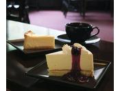 人気ナンバー1のレアチーズケーキセット