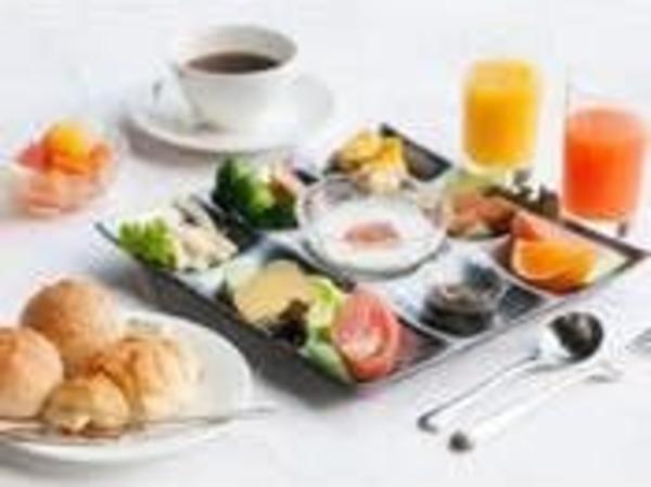 朝食バイイング盛り付け例