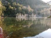 早朝の明神池(一の池)