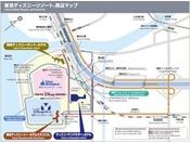 東京ディズニーリゾート周辺マップ