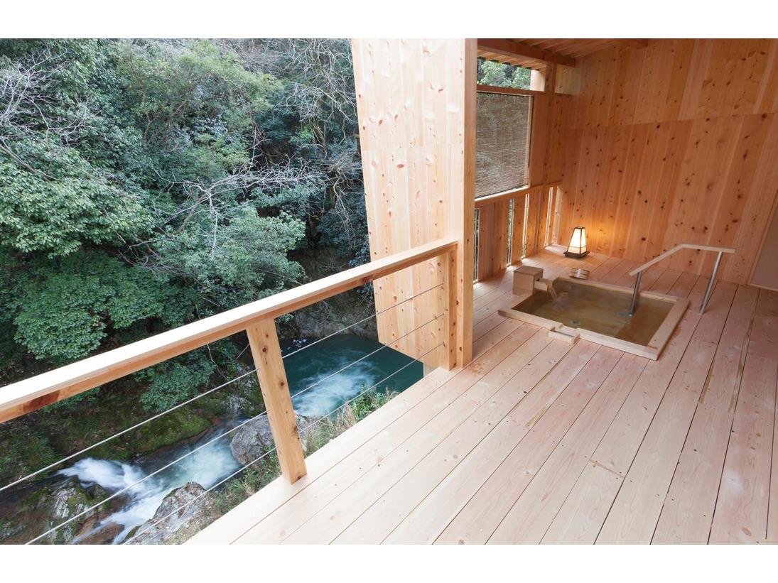 椿の間 露天風呂