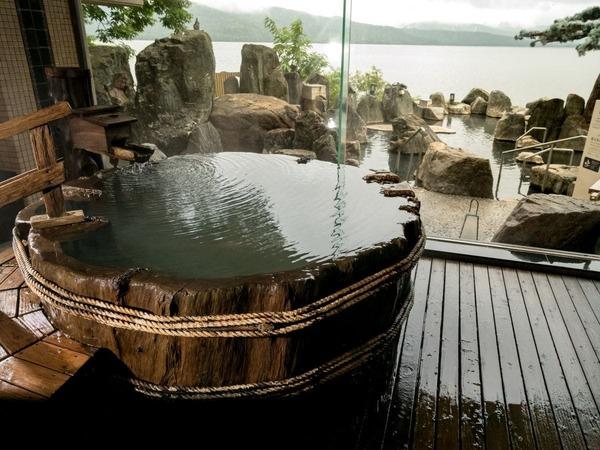 【1F大浴場「豊雅殿」】/丸太風呂