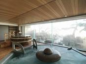 【1F大浴場「豊雅殿」】/阿寒湖畔の眺めと温泉の楽しさを同時にご堪能ください。