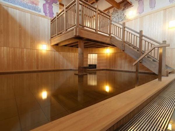 【1F大浴場「豊雅殿」】/檜風呂