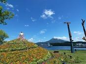 ◆阿寒イオマプの庭/阿寒湖をバックにドレスガーデンでの撮影がおすすめ!(イメージ)