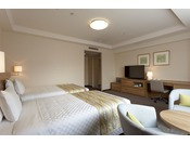 【コンフォートコーナーツイン】ベッド幅120cm×2台/24平米/エレガントでゆったりとした空間。