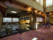 【海を望む湯を楽しむ 男性大浴場「白鷺」入口】男性大浴場は1階にご用意しております。