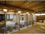 【パウダールーム】大浴場に設置されているパウダールーム