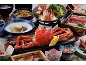 【タグ付き加能蟹約1杯付き会席】石川県を代表するブランド蟹「加能蟹」と能登自慢の食材を十二分に堪能いただける会席です。