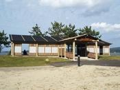 【海望周辺情報】足湯 湯っ足りパーク(妻恋舟の湯)湯っ足りパークという海が見える公園があります。(徒歩約2分)その公園の片隅に「妻恋舟の湯」(無料)という足湯あり。
