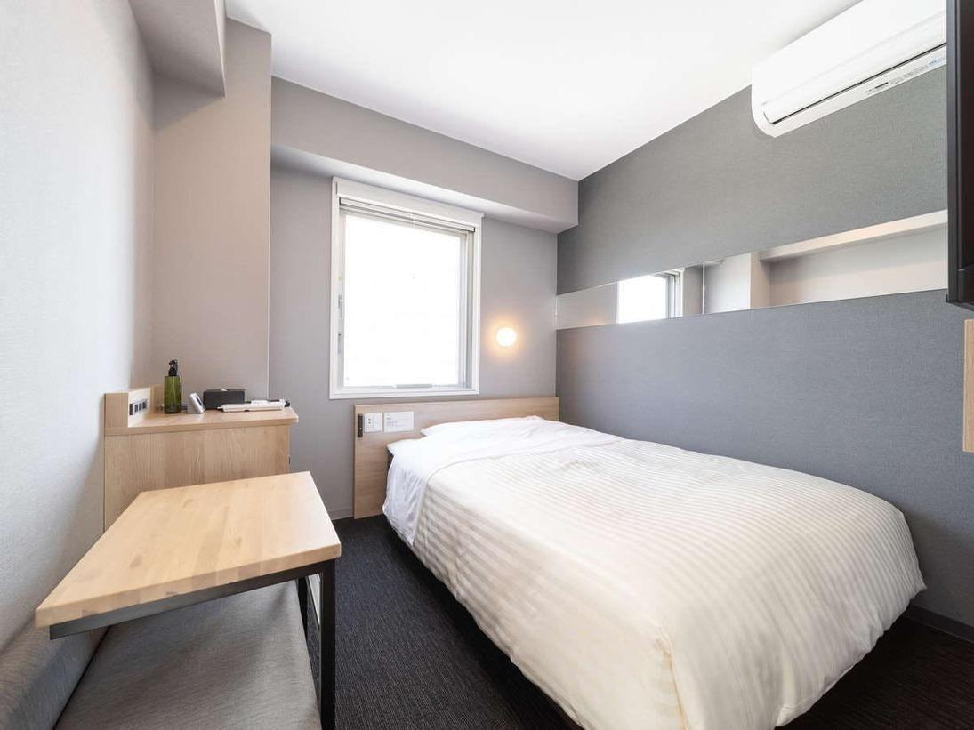 【スタンダードルーム】ダブルサイズベッドで眠りを追及し適度な硬さのマットでぐっすり!