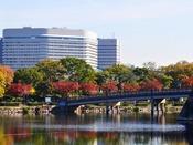 秋の大阪城公園とホテルニューオータニ大阪