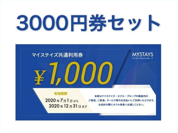 マイステイズ共通利用券【3000円】