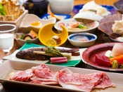 ■上州牛会席■群馬県産ブランド豚「上州牛」をメインに使った和食