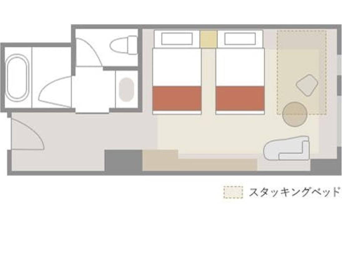【スタンダードルーム:31平米】室内レイアウト(一例)