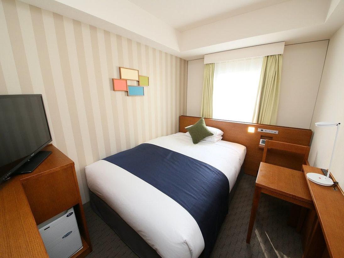 <シングルルーム(一例)>【広さ13.0平米/ベッド幅1.4m】コンパクトなお部屋でビジネス・出張に最適です!