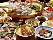 魚介の旨みたっぷり旬感沸騰石焼き桶鍋・お惣菜ブッフェ