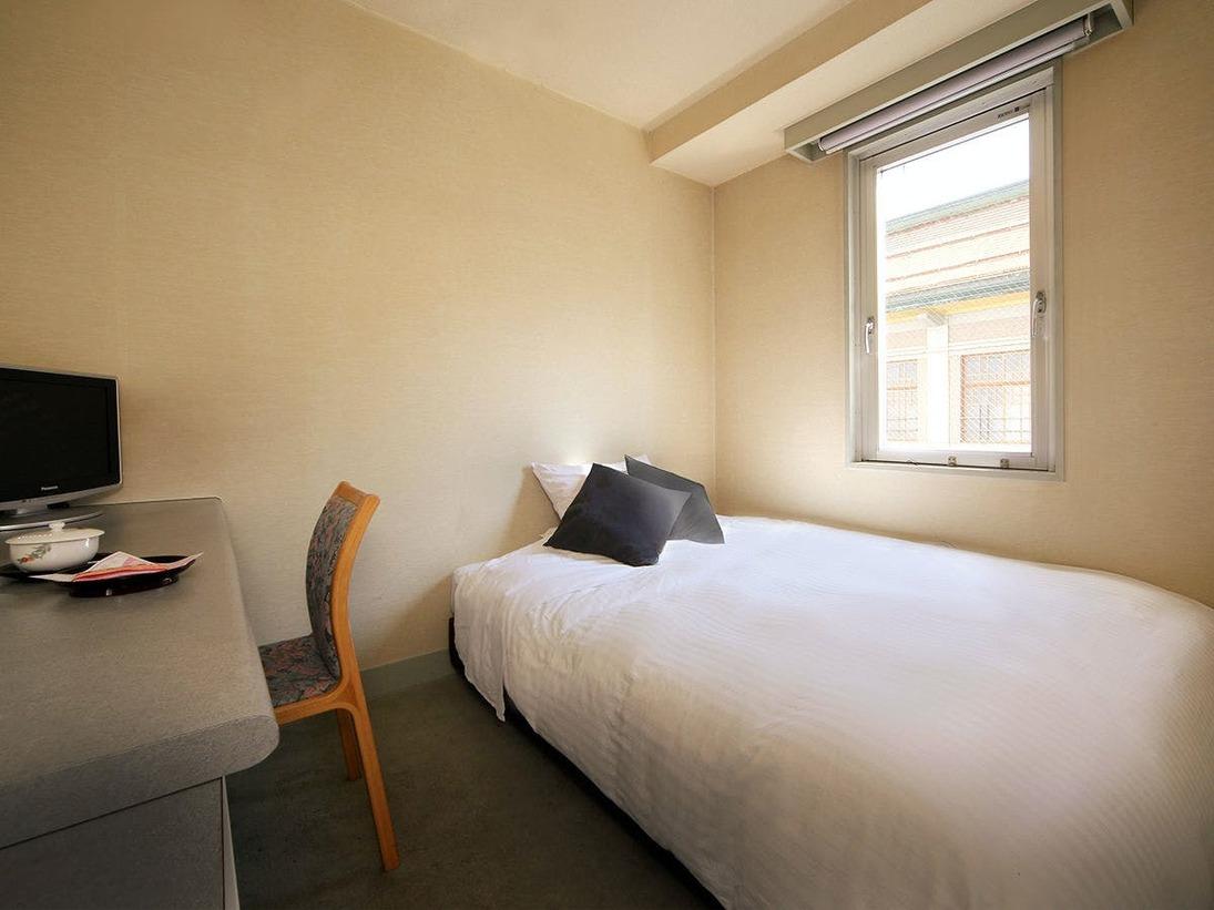 【禁煙】シングルルーム【16平米】液晶TV/Wi-Fi完備(無料)ベッドルームで静かなお部屋
