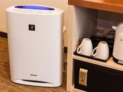 全室加湿機能付き空気清浄機完備