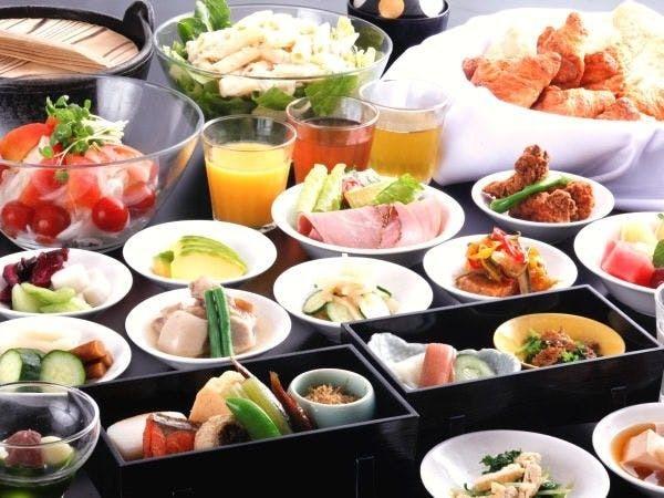 【朝食】和食のセットメニュー+バイキング