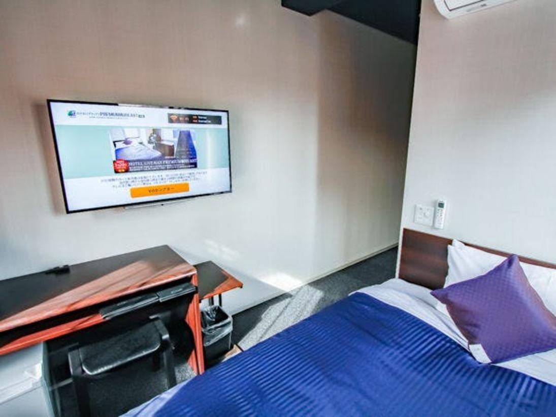 全室4K対応テレビ・ベッドを導入しております。