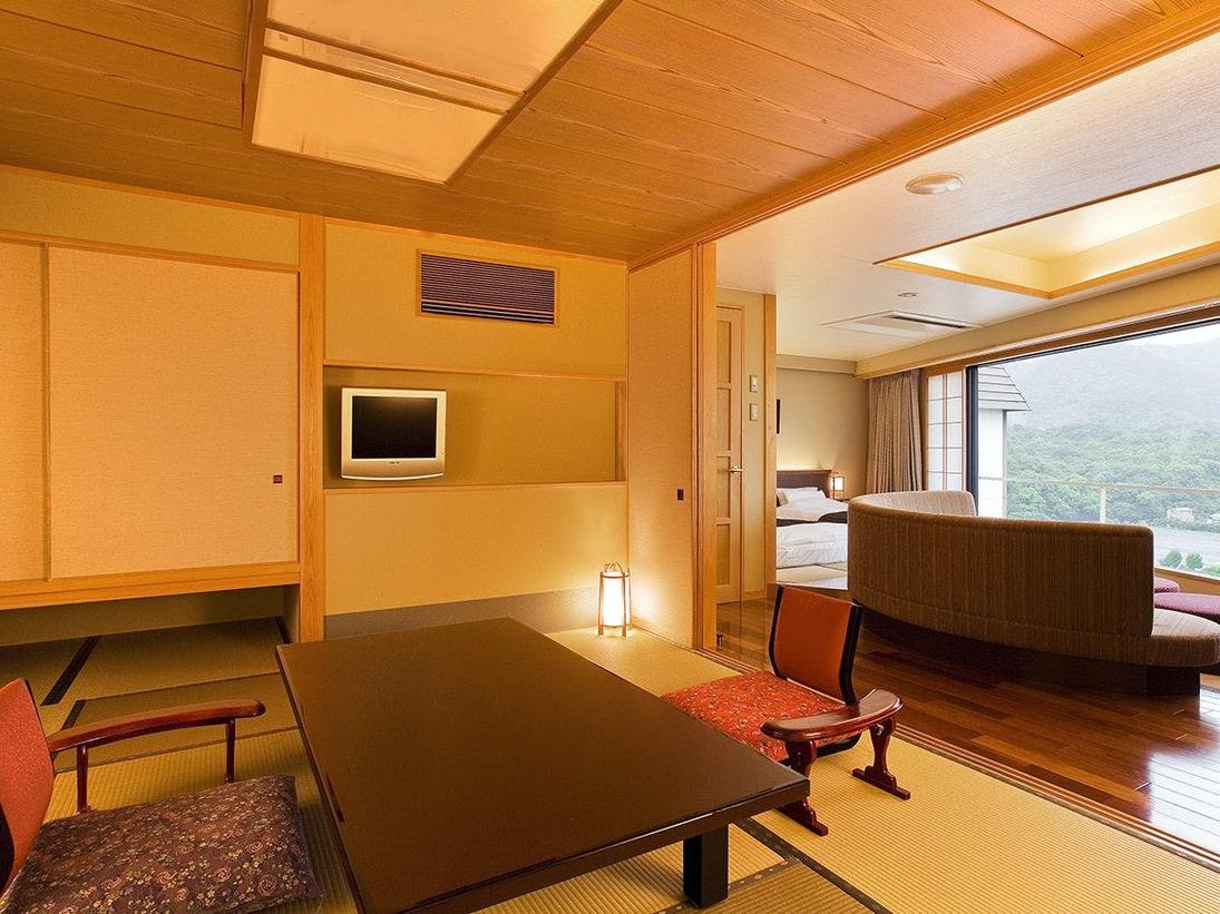 ◆コーナースイート‐山草花◆角部屋ならではの静寂が心地よい空間
