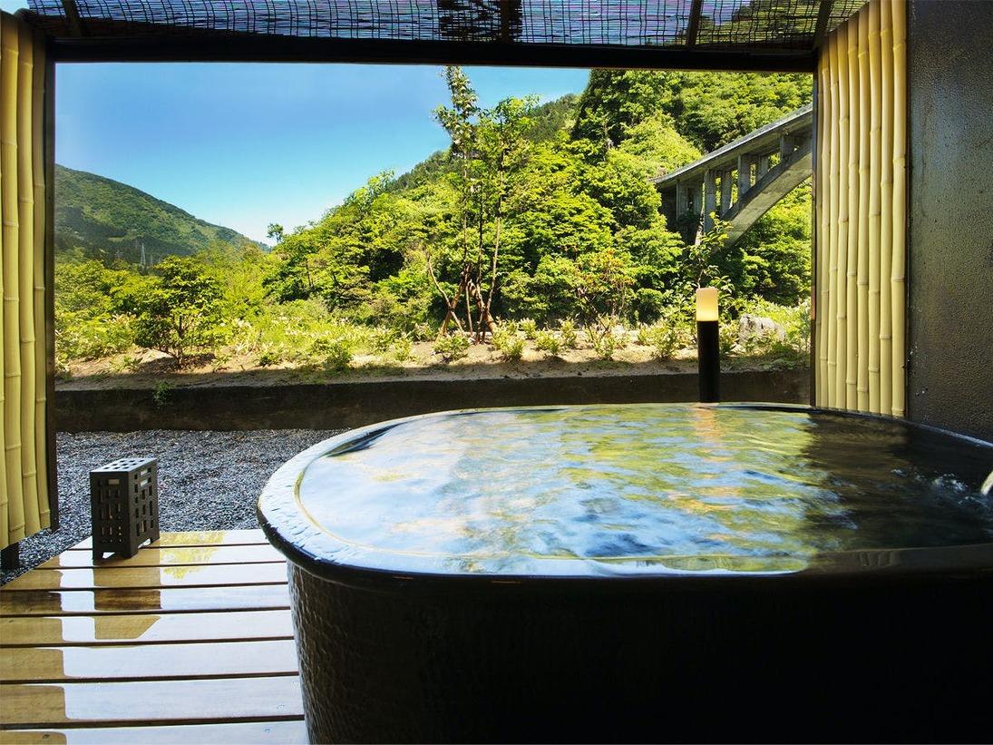 """■新貸切風呂<松葉>■宇奈月温泉の""""美肌の湯""""をのんびりと♪じんわり心地よい温かさを気兼ねなく。"""