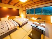 ◆和ベッドルーム◆心地良い眠りを誘う『シモンズベッド』導入!新鮮味のあるスタイリッシュな空間を。