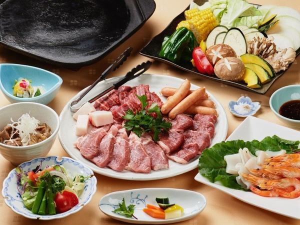 山形銘肉三種盛り鉄板焼き膳