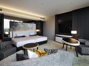 スイート 55.2平米 130cm幅ベッド×2デザインにこだわったジュニアスイートスタイルのお部屋は、特別な時間を演出するのに最適でございます。スイートは2室あり、ご宿泊いただくお部屋はスタッフにお任せいただきます。