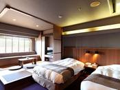 【こもれび】和洋室 ※客室一例/ブラウンとアイボリーのカラーコーディネイトがおしゃれな和洋室