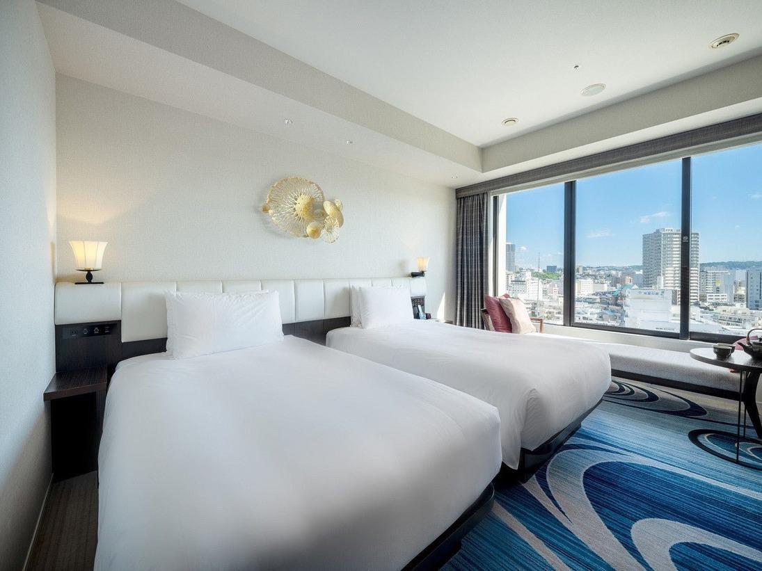 【ツインルーム28平米】沖縄の海をイメージしたお部屋