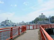 神明崎:気仙沼湾・内湾を望めるビュースポットです。多様な植生がみられ、「百樹園」とも称されます。当館から車で約7分。