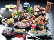 【潮さいクエ大鍋会席】秋冬限定 幻の高級魚とも言われる魚、クエを含んだ会席※イメージ