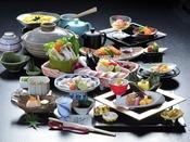 【海ほたるクエ大鍋会席】秋冬限定 幻の高級魚とも言われる魚、クエを含んだ会席※イメージ