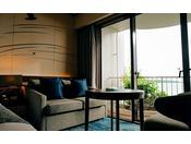 ■デラックスツイン(オーシャンウィング最上階/6階)オーシャンウイング最上階(6階)からの極上の眺めはもちろん、バス・トイレ別々、洗面台がセパレートされた水回りの良さも魅力です。※2020年3月リニューアル