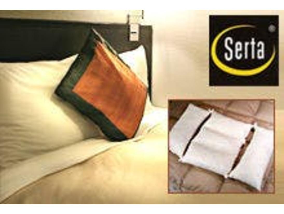 ■オリジナル快眠枕■ロフテーのピローフィッターと共同開発。三井ガーデンホテルズ オリジナル快眠枕で快適な睡眠をお約束。