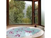 スーペリアルームの展望ジャグジー風呂