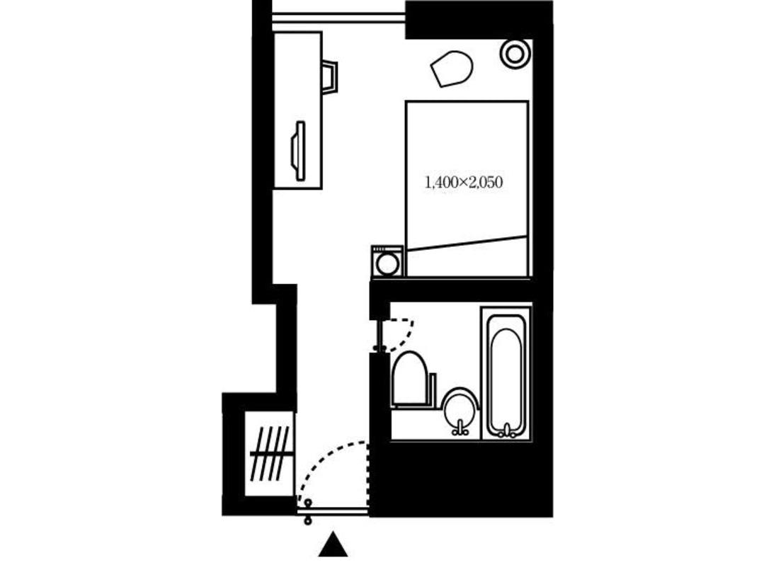 シングルルーム 間取り図 一例