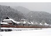 【かやぶき棟】雪景色