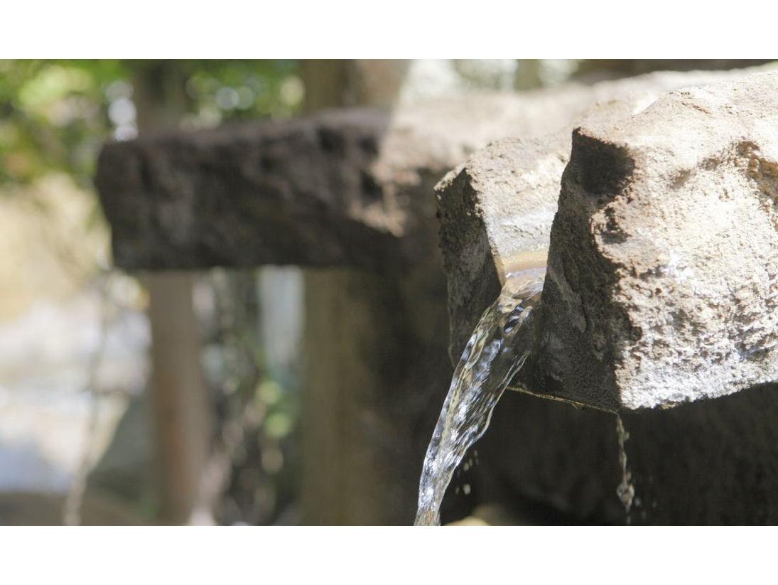 美肌・姫神の湯、玉造の美肌温泉は保湿成分に優れ、天然の化粧水のような温泉でございます。