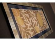 【壁の装飾】客室インテリアもひとつひとつこだわっています!