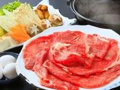 【2019年秋の花栞】但馬牛と松茸のすき焼き